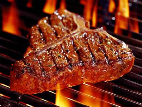 A steak very much like this one now sits in my stomach, slathered in peptic acid.